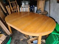 Table & Chairs & Childrens Bench For Sale