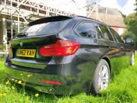Black BMW 3 Series, 2.0 318D Sport Touring (Estate) 5 door - late 2012 - F31