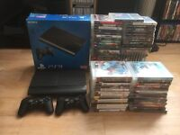 "PS3 Slim 500gb boxed 72 games and Panasonic 42"" tv."