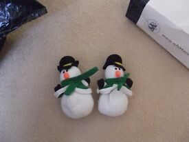 CHRISTMAS SNOWMEN - PACK OF TWO