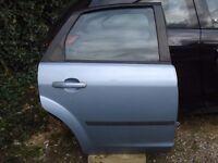 Ford Focus, 2005 - 2008, Driver side Rear Door, Complete in Toxic Blue, Very clean Door, £40