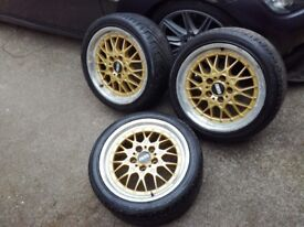 Bmw BBS RY 011 wheels x3