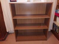 Oak veneer book shelf
