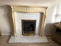 Marble Fire Surround with gas fire