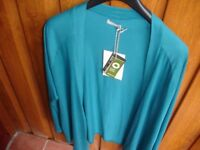 Ladies Aqua Fair Trade Cardigan----Brand New with Tags