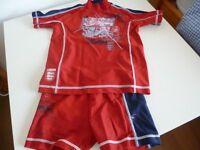 Next England sun protect suit Age 2-3