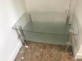 Glass tv/coffee table