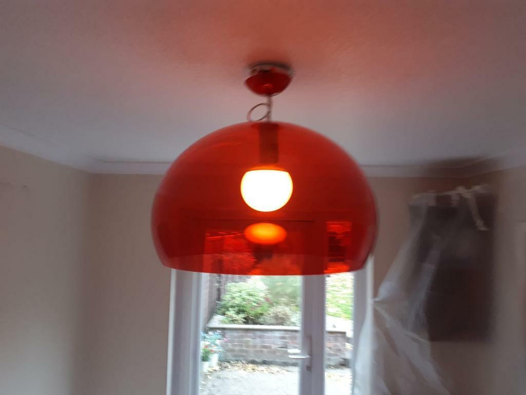 Kartell fly red dome light fitting lampshade in reading berkshire gumtree