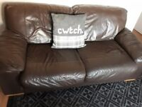 Brown Leather sofas in good condition