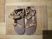 New Sandals Teva Men Original Universal Peaks Caramel size UK 10