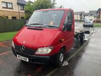 Mercedes Sprinter 2002 Recovery truck    new engin fitted 128k miles