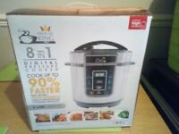 PRESSURE KING PRO 8 IN 1 DIGITAL COOKER USED ONCE