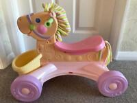 Fisher price horse, plays music