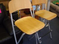 TWO IKEA HIGH STOOLS