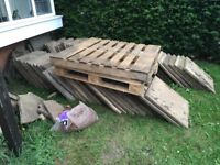 Slabs and two pallets