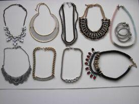 999fb4ac6 9 x Choker Chunky Statement Bib Necklace & 3 x Bangles Fashion Costume  Jewellery