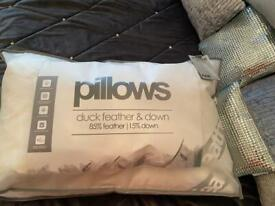 2 New quality pillows they are duck feather & down 2 pillows