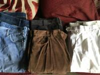 Men's trousers and jeans