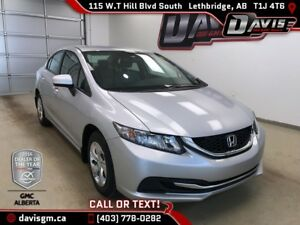2014 Honda Civic LX ONE OWNER, BLUETOOTH, ALL SEASON TIRES