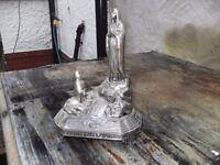 VINTAGE STATUE / MUSIC BOX OF OUR LADY APPEARING AT LOURDES BOUGHT FROM LOURDES