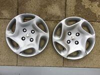 Peugeot 14 inch wheel trim x 2
