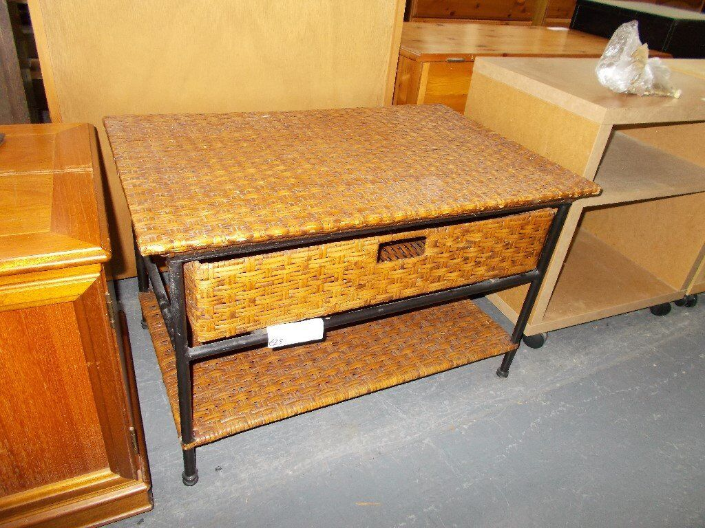 Cane Raffia Coffee Table with Drawers…31411E