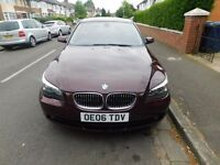 BMW 5 Series 525d Red With Cream Leather Interior