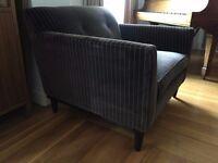Brown Pin-Stripe Arm Chair