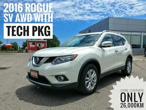 2016 Nissan Rogue SV Moonroof & Tech Pkg  FREE Delivery
