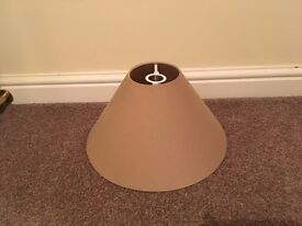 Mink coloured lampshade