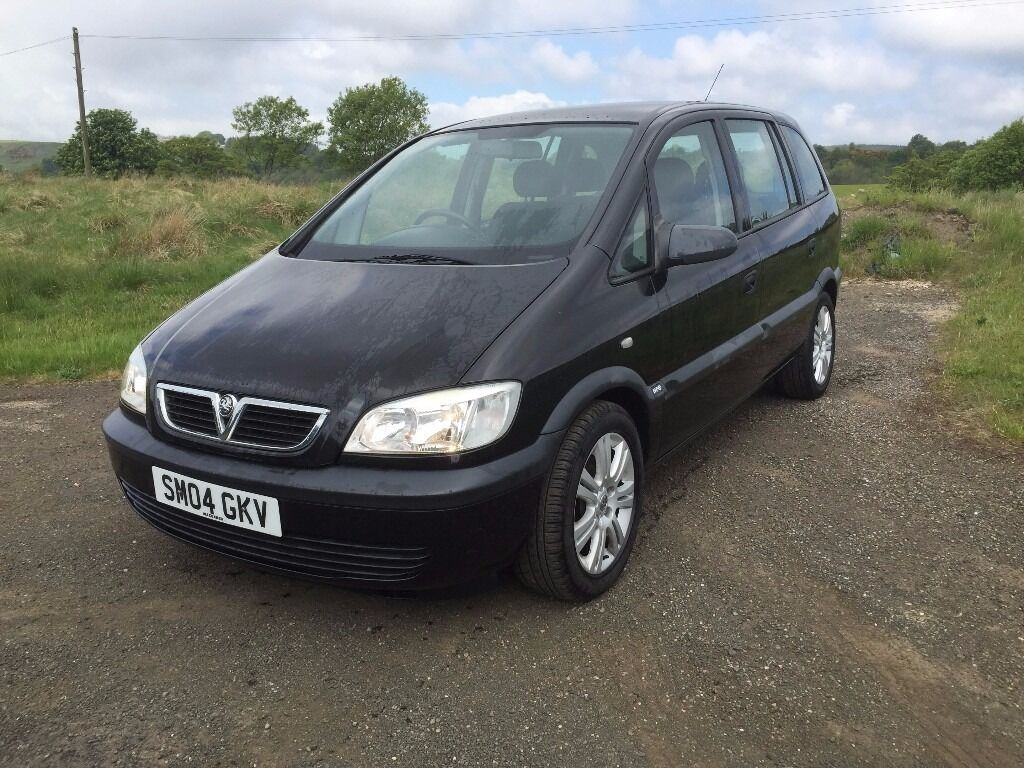 2004 vauxhall zafira 2 0dti black only 66k diesel mpv 7 seater years mot ideal family. Black Bedroom Furniture Sets. Home Design Ideas