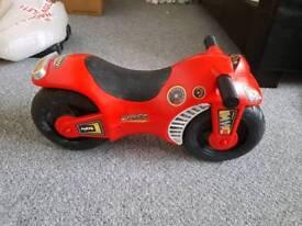 Toddler motorbike push along