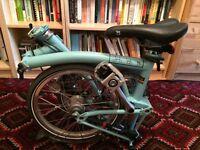Turquoise Brompton Bike For Sale