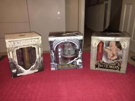 Complete Lord of the Rings Trilogy Of Extended Collectors Edition DVD's and Figurines