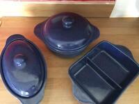 Kalahari sands ceramic casserole dishes - unused for sale  Coupar Angus, Perth and Kinross