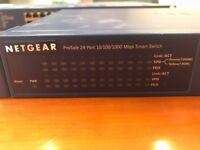 Netgear 24 port 10/100/1000 Mbps Smart Switch