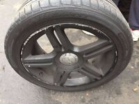 audi alloy for a4,a6 , vw and others with new tires size 235/45/zr17