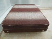 DOUBLE BED – MATTRESS AND FOLDABLE BASE UNIT – GOOD CONDITION AND COMFORTABLE.