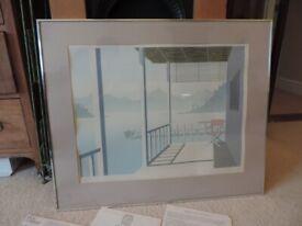 Original Signed & Framed Mick Durrant Silkscreen Print 'Lugano'.