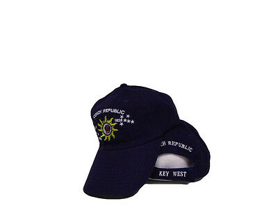 Key West Florida Conch Republic Deep Dark Purple Baseball Hat Cap