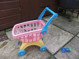 Toy Shopping Trolley ( Sun Faded and used outdoors)