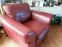 Leather armchairs x 2