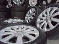17inch genuine b8 alloys wheels audi a4 a6 a5 a8 a3 5x112 golf vw caddy t4 t3 s line