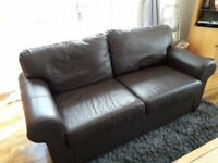 Beautiful Chocalate Brown Leather Sofa As New Never Used
