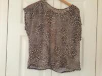 Ladies animal print floaty top