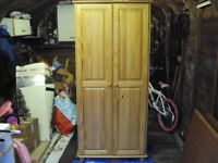 REAL PINE WOODEN DOUBLE WARDROBE £25
