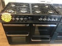 FLAVEL 100CM DUAL FUEL RANGE STYLE COOKER IN BLACK