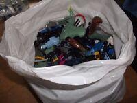 Bag of Lego Hero factory figures pieces