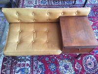 Comfortable Telephone Rest (wood&leather)