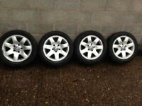 BMW 3 series E46 set of 4 16 inch alloy wheels and tyres